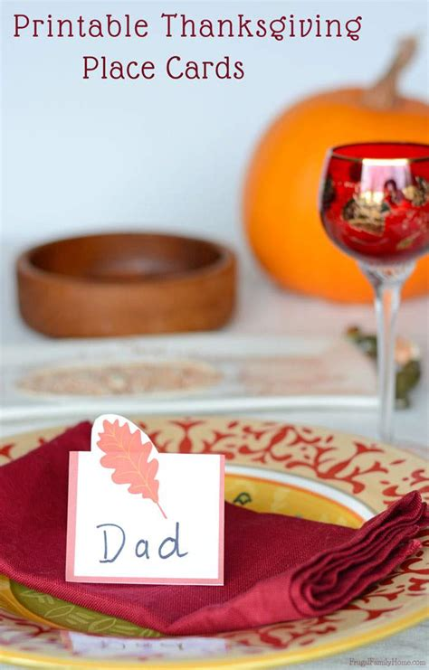 make your own thanksgiving cards printable leaf place cards for thanksgiving