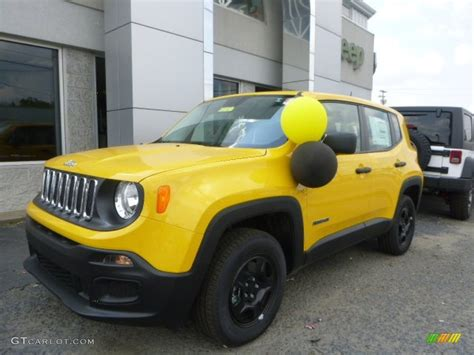 yellow jeep interior 2015 solar yellow jeep renegade sport 4x4 106885444