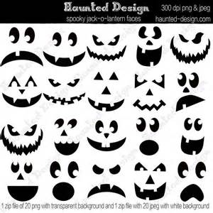 O Lantern Template by O Lantern Spooky Faces Digital Jpeg With