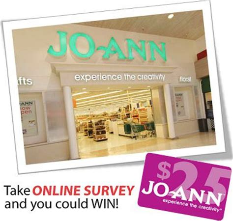 Joann Fabric Gift Card - tell joann to win 25 gift card in joann fabric feedback survey sweeps sweepstakesbible