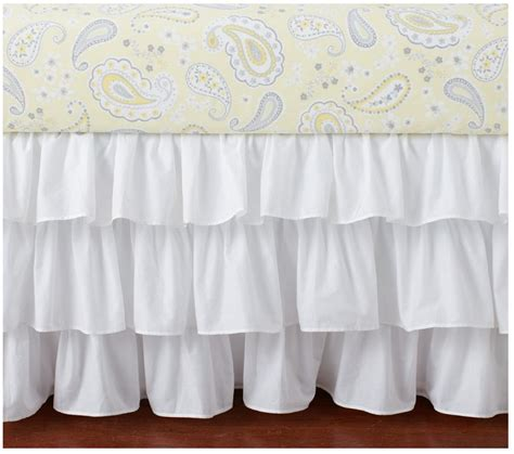Ruffled Crib Skirt by Pottery Barn Ruffle Crib Bedskirt White New With Tags 3 Available