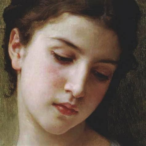 william adolphe bouguereau young girl head study of a young girl detail posters by william