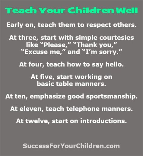 8 Basic Manners To Teach Your Child And How by Manners Are A Must For Success They Are The Key To