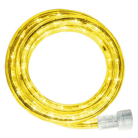 led 30 ft rope light yellow 120 volt