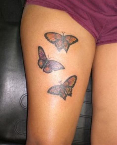 butterfly thigh tattoos designs ideas and meaning