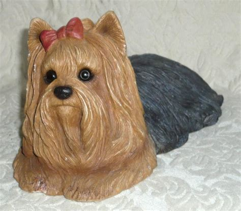 yorkie figurines sandicast fawn terrier figurine wow yorkie sculpture signed ebay