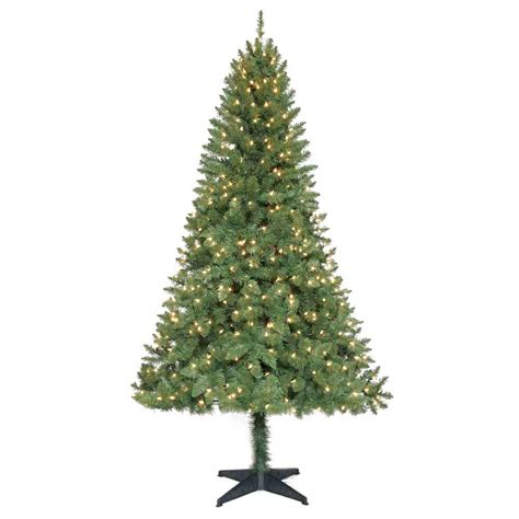 6 5 ft pre lit verde pine tree with clear lights only 13