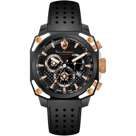 Lamborghini Tonino Watches Tonino Lamborghini 4 Screws 4850 Chronographic Black