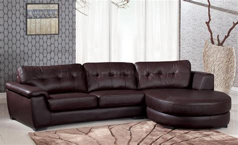 comfortable modern sectional 3612 sectional sofa in brown leather by global
