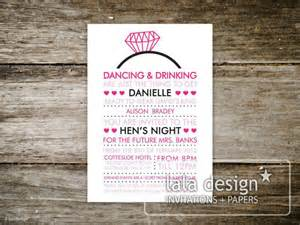 kitchen tea and hens invitations lala design