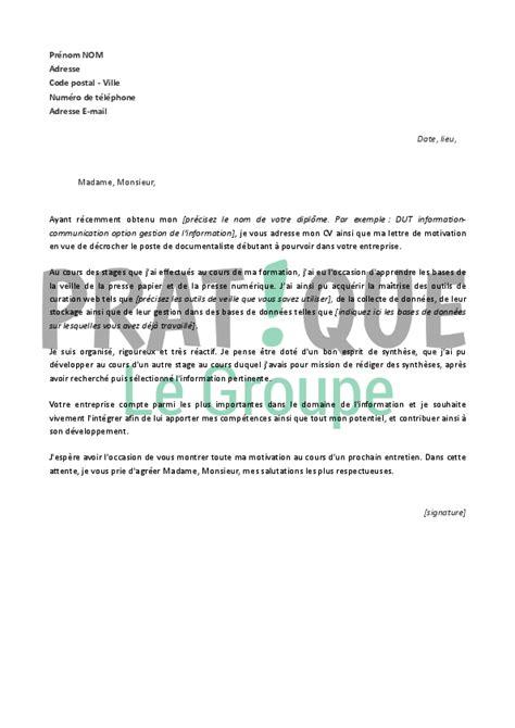 Exemple De Lettre De Motivation Pour Emploi Comptable modele lettre de motivation pour formation assistant comptable