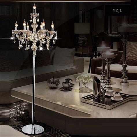 heads crystal floor lamp modern living room dining room