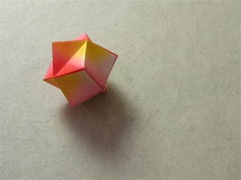 Origami Stellated Octahedron - origami stellated octahedron montroll