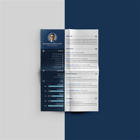 Beautiful Resumes by Free Beautiful Resume Cv Design Template Psd File