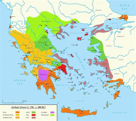 map of archaic greece ancient greece map in the aegean area a map of influence
