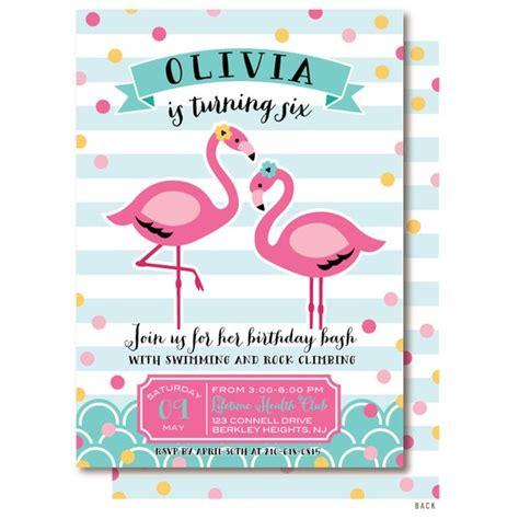 Flamingo Invitation Pink Pool Party Birthday Invitations Flamingo Invitation Template Free