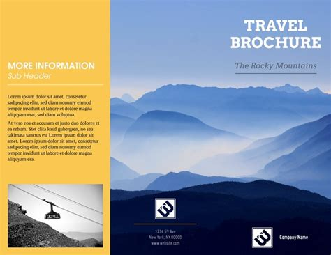 travel brochure template free sle travel brochure template free travel brochure