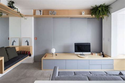 tiny apartment living sliding doors and multi functional wall shape tiny s 227 o