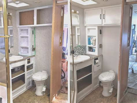 rv bathroom remodeling ideas 15 new small rv remodel before and after creative maxx ideas