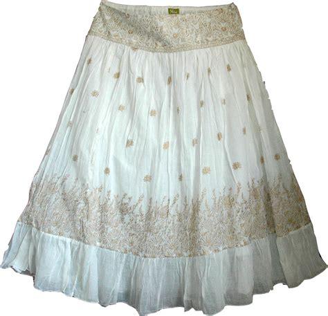 Whita Skirt white golden bohemian skirt sequin skirts white skirts