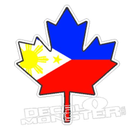 Philippines Canadian Leaf Decalmonster Com Philippines Canada Flag