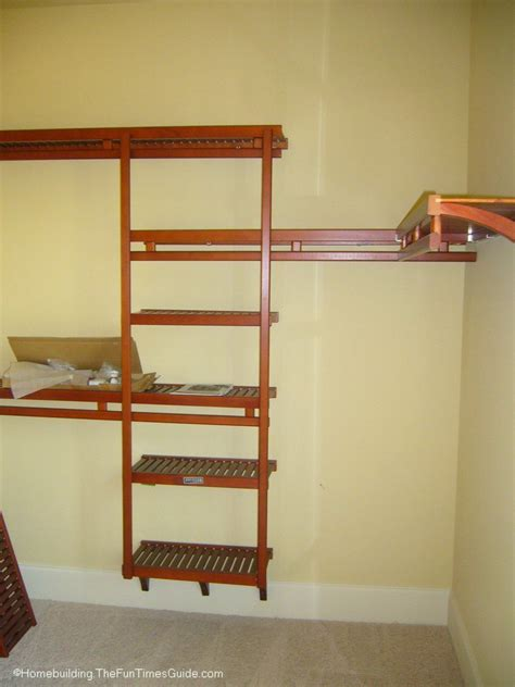 Built In Wooden Shelves Closet Spruce Up Your Walk In Closet Get Organized Times