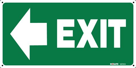 Exit Sign by Exit Sign With Arrow To Left
