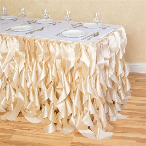 curly willow table skirt 17 ft curly willow table skirt