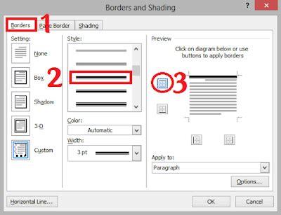 cara membuat garis datar di word cara membuat garis kop surat di microsoft word tutorial