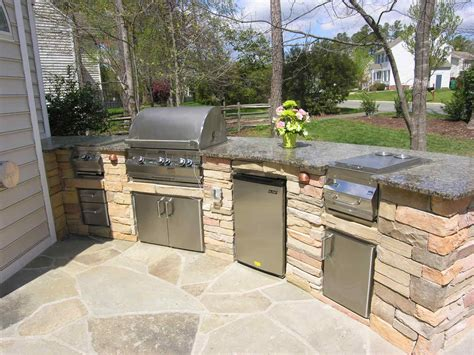 outside kitchens ideas backyard patio with kitchen ideas this custom outdoor