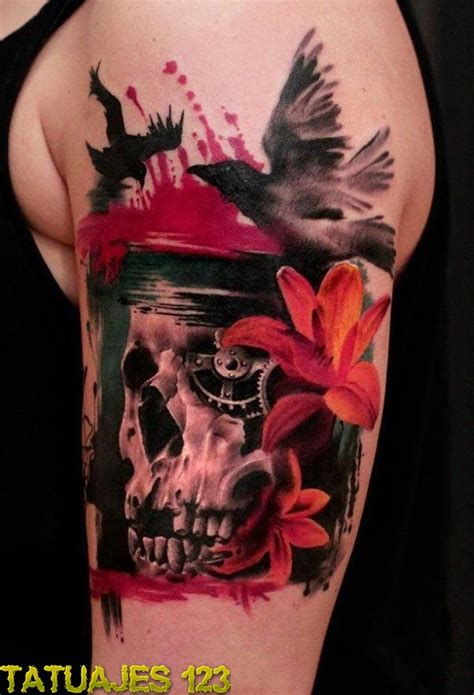imagenes impresionantes de tatuajes impresionante tatuaje 3d con calavera tatuajes 123