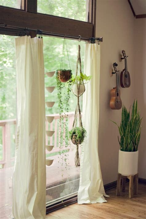 Ideas For Hanging Curtain Rod Design Hanging Plants From Curtain Rod Luxurious Decorating Ideas