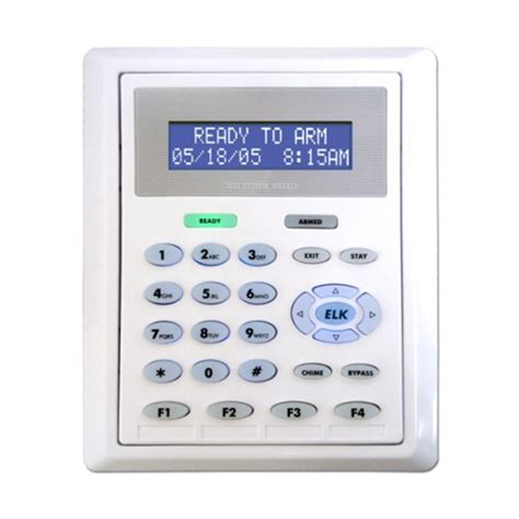 m1kp2 elk m1kp2 flush mountable lcd keypad