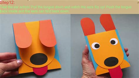 dog pop up card template how make make a puppy ears card craft c diy tutorial