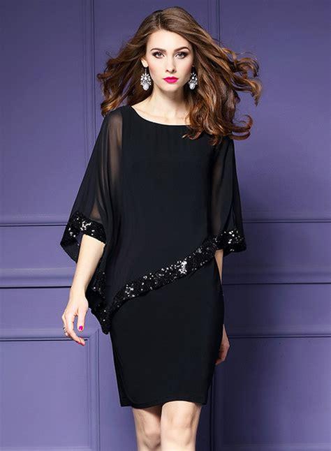 Dress Batwing Jfashion s fashion batwing sleeve sequins chiffon dress achicgirl