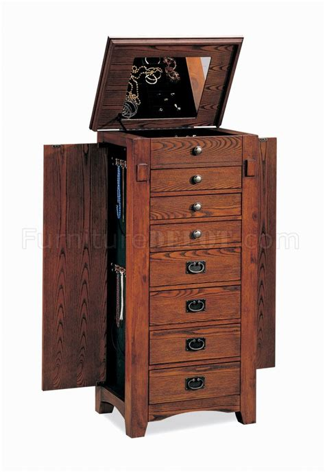 jewelry armoire chest mission oak finish elegant jewelry armoire chest