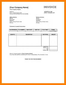Invoice Uk Template 7 Sole Trader Invoice Template Uk Janitor Resume