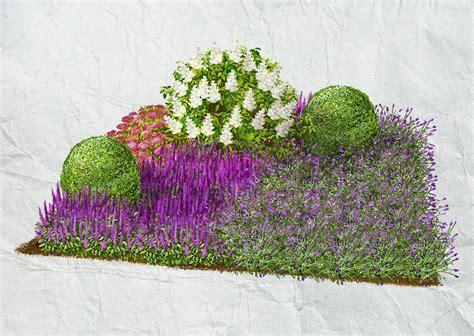 beet mit buchsbaum gestalten bl 252 tenreicher vorgarten spierstrauch salbei