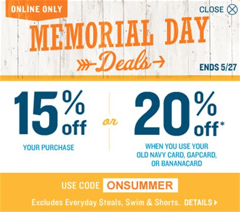 old navy coupons for sale items old navy coupons save 15 or 20 off your purchase