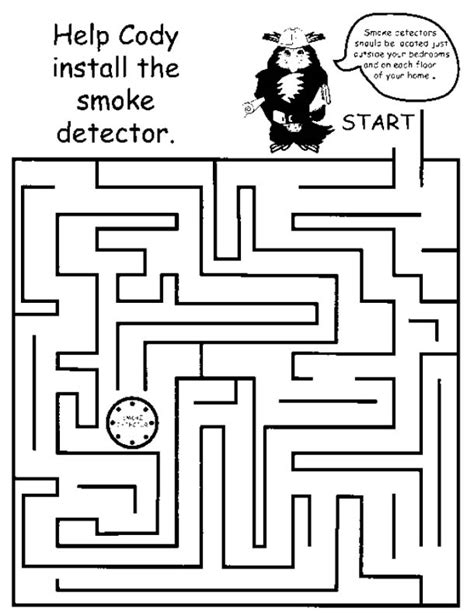 printable mazes for elementary school printable mazes print your maze find smoke detector