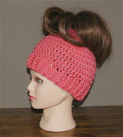 pattern for bun holder ravelry messy bun ponytail holder hat pattern by amy lehman