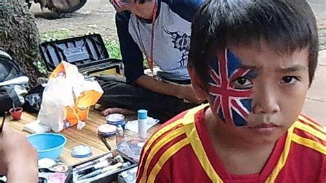dickspaint facepainting jakarta face painting football