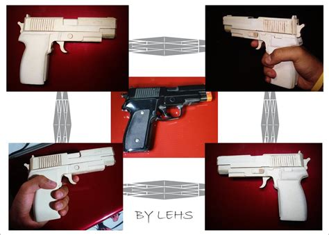 How To Make Paper Weapons That Work - paper gun by lehs di on deviantart