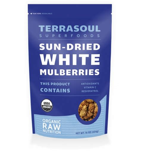 sun dried white mulberries terrasoul superfoods