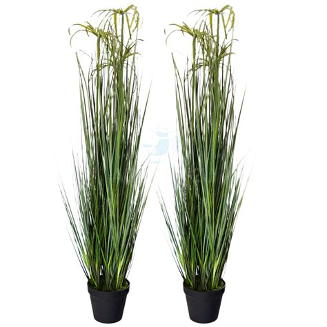 decorative pond plants 2x tall artifical fake papyrus pond reed plants in pots