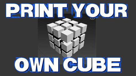 printable rubik s stickers how to 3 d print your own rubik s cube youtube