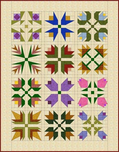 Flower Pattern Quilt Block | flower quilts quilt patterns and quilt blocks on pinterest
