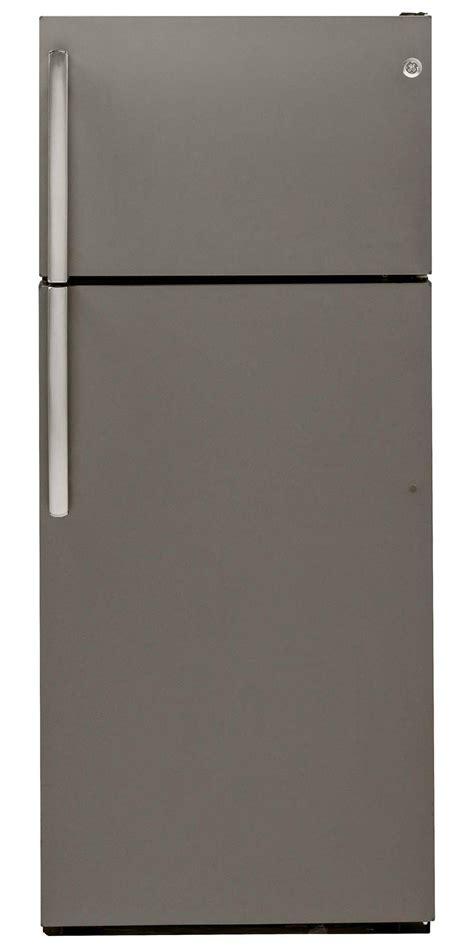 ge slate refrigerator ge appliances gtm18gbees 18 1 cu ft top freezer