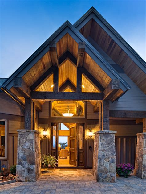 carolina mountain homes contemporary entry