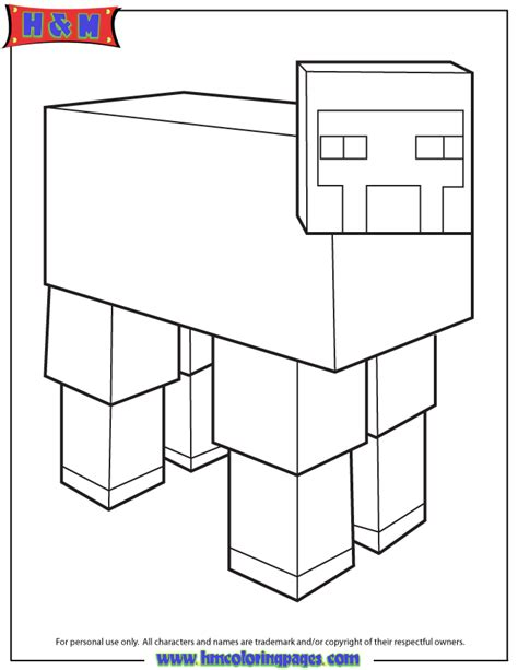 minecraft sheep coloring page minecraft sheep coloring page h m coloring pages
